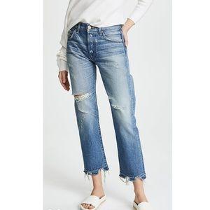 MOUSSY MV Leola Cropped Straight destroyed Jeans